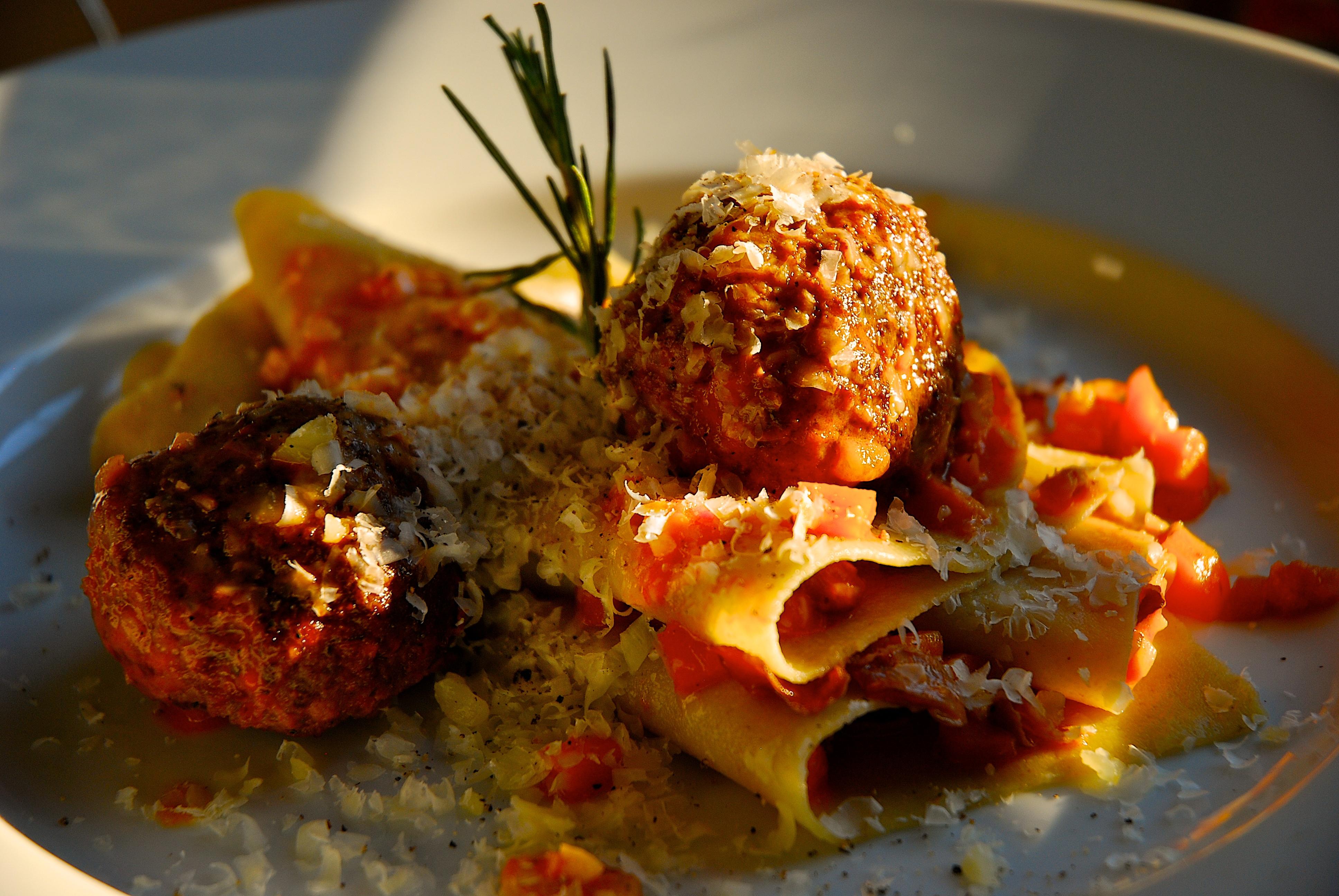 Meatballs Emilia-Romagna with Pasta Sheets   the bona fide farm food ...