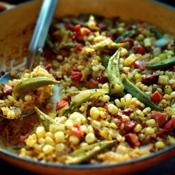 Okra and Sweet Corn Purloo