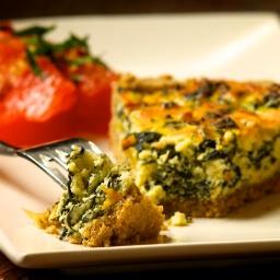 Lacinato Kale and Ricotta Tart