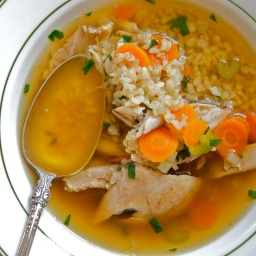 Chicken and Rice Soup with Saffron