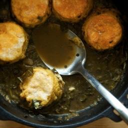 Gumbo Z'herbes with Yeasted Corn Biscuit Dumplings