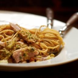 Tuna with White Beans and Spaghetti