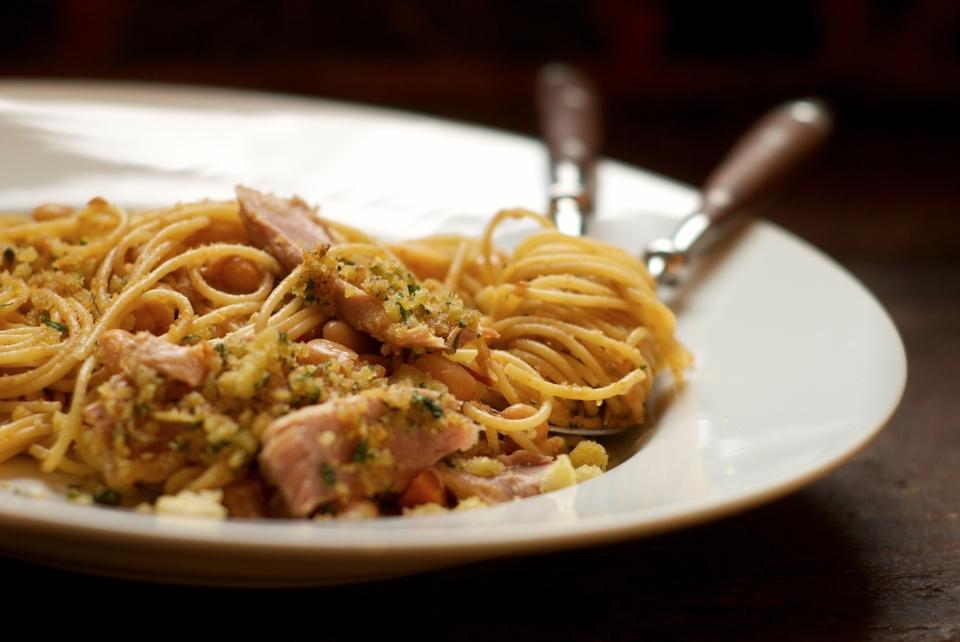 Tuna with White Beans ans Spaghetti