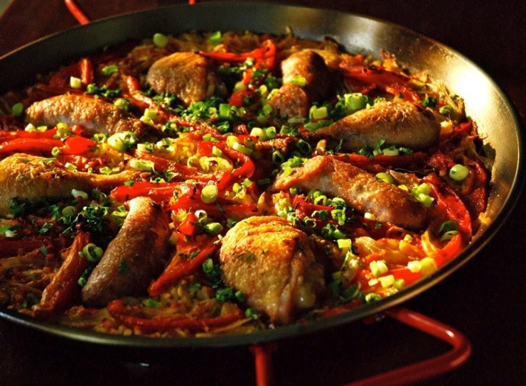 chicken sausauge and rd pepper paella_1