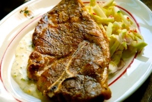 Grilled Pork Steaks with Ranch Dressing is yet another great use for the dressing.