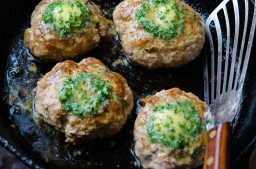 Turkey Burgers with Lemon Parsley Butter