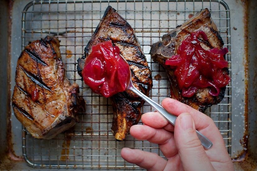 Red Onion and RhubarbFondue