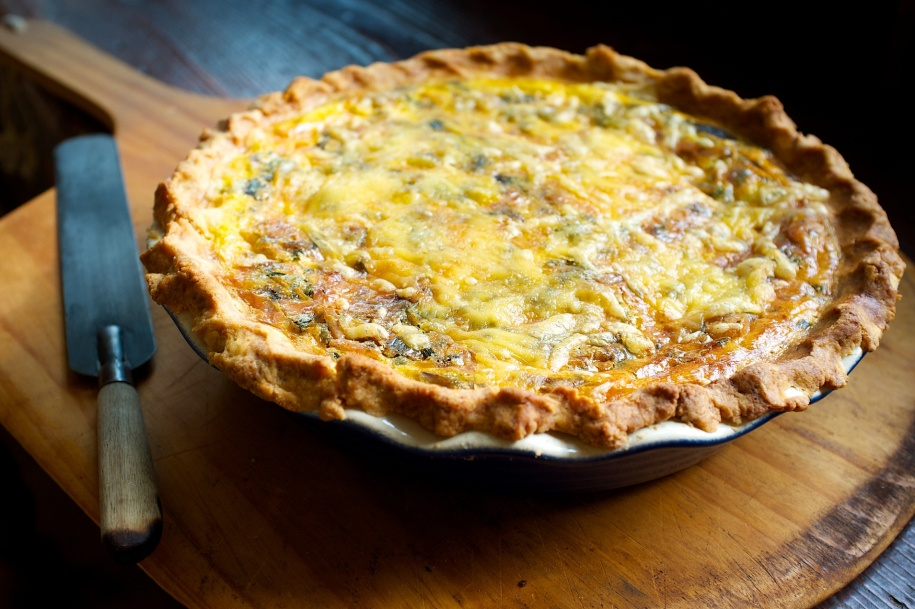 Pancetta Lardons, Sorrel and Mushroom Quiche
