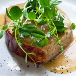 Turkey Meatloaf with Peas and Gravy