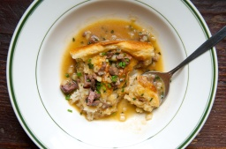 Biscuits with Ramp and Giblet Gravy