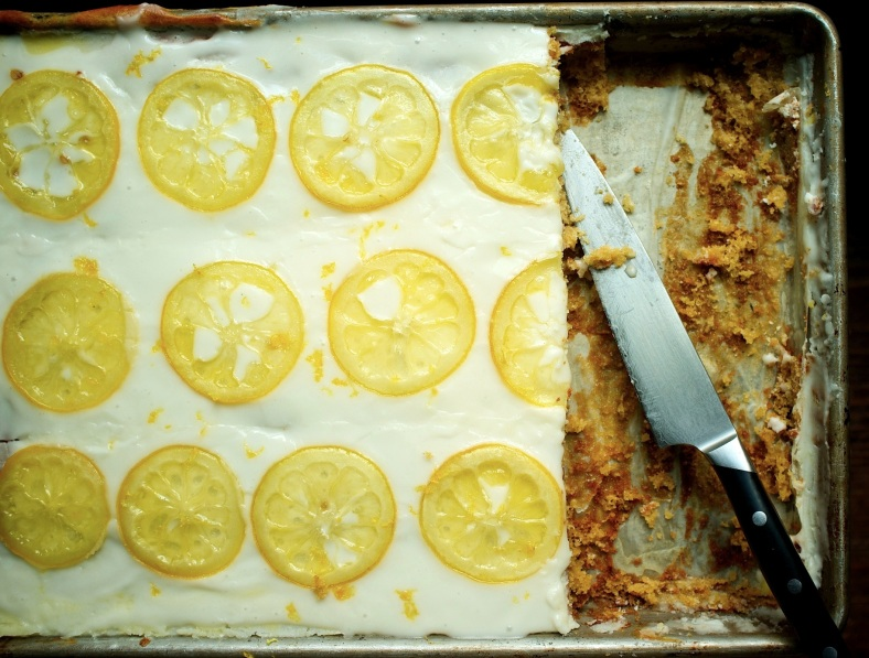 Candied Lemon Sheetcake