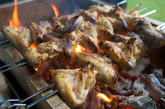 Burmese-style wings with Shallot, Lime and Cilantro Salsa