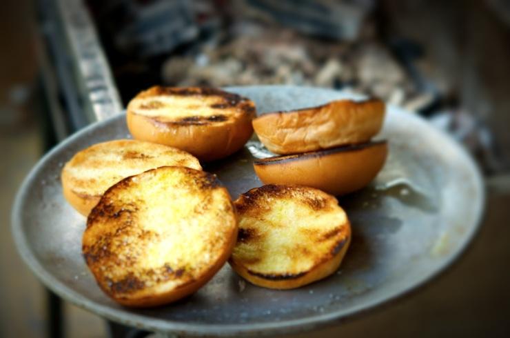grilled burger buns