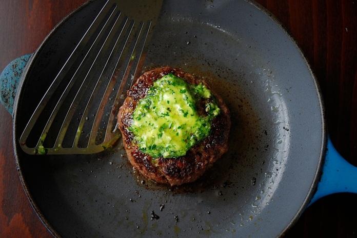 Venison Chopped Steak with Tarragon Dijon Butter