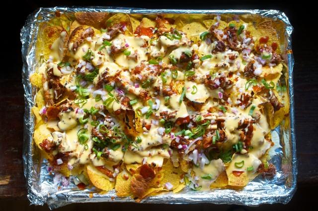 Memphis style pulled pork nachos