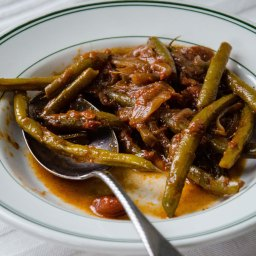 Middle Eastern Braised Green Beans