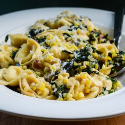 Squeezing Every Last Bite Out Of Summer: Swiss Chard, Sweet Corn, and Tortellini